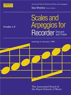 Scales And Arpeggios For Recorder Grades 1-8 Books | Soprano (Descant) Recorder, Alto (Treble) Recorder