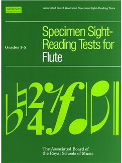 ABRSM Specimen Sight-Reading Tests For Flute Grades 1-5 Books | Flute