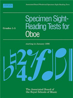 Specimen Sight-Reading Tests For Oboe Grades 1-5 Books | Oboe
