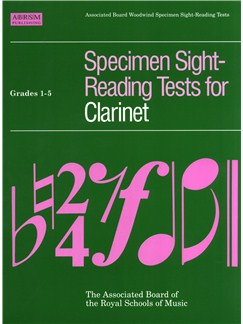 ABRSM Specimen Sight-Reading Tests For Clarinet Grade 1-5 Books | Clarinet