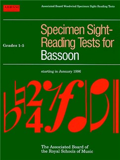 Specimen Sight-Reading Tests For Bassoon Grades 1-5 Books | Bassoon
