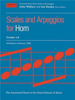 Scales And Arpeggios For Horn Grades 1-8 Books | Horn