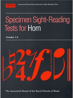 Specimen Sight-Reading Tests For Horn: Grades 1-5 Books | Horn