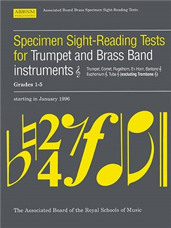 Specimen Sight-Reading Tests For Trumpet And Brass Band Instruments Grades 1-5 Books | Brass Instruments