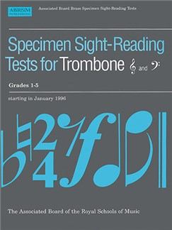 Specimen Sight-Reading Tests For Trombone Grades 1-5 Books | Trombone