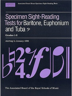 ABRSM Specimen Sight-Reading Tests for Baritone, Euphonium and Tuba, Bass Clef, Grades 1-5 Books | Baritone Voice, Tuba, Euphonium