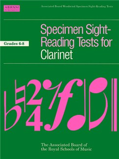 ABRSM Specimen Sight-Reading Tests For Clarinet Grades 6-8 Books | Clarinet