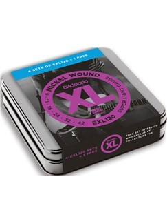 D'Addario: Nickel Wound Electric Guitar Strings 9-42 Gauge EXL120 - Limited Edition Tin (5 Sets For The Price Of 4)  | Electric Guitar