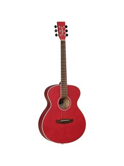 Tanglewood: Discovery Folk Acoustic Guitar (Wine Red) Instruments | Acoustic Guitar