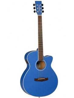 Tanglewood: DBTSFCEBL Discovery Super Folk Cutaway Electro-Acoustic Guitar (Dark Blue) Instruments | Electro-Acoustic Guitar