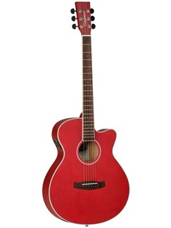 Tanglewood: Discovery Superfolk Electro-Acoustic Guitar - Red Instruments | Electro-Acoustic Guitar