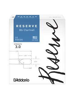 D'Addario Reserve Reeds: B Flat Clarinet - Strength 3 (Pack Of 10)  | Clarinet