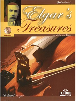 Edward Elgar: Elgar's Treasures For Violin And Piano Books and CDs | Violin, Piano Accompaniment