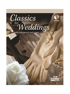 Classics for Weddings - Clarinet Books and CDs | Clarinet, Piano Accompaniment