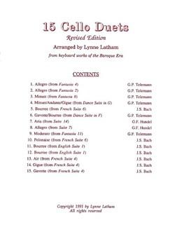 Fifteen Cello Duets Books | Cello Duet
