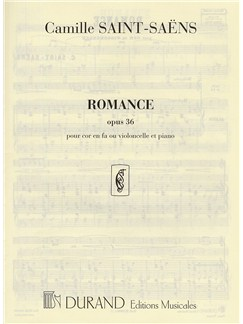 Camille Saint-Saens: Romance Op.36 Books | French Horn, Piano Accompaniment