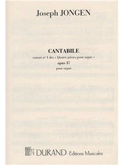 Joseph Jongen: Quatre Pieces Op.37 No.1 'Cantabile' (Organ) Books | Organ