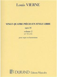 Louis Vierne: 24 Pieces En Style Libre - Livre 2 (Organ/Harmonium) Books | Organ or Harmonium