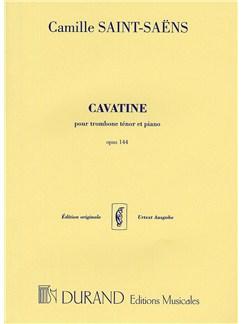 Camille Saint-Saen: Cavatine Op.144 Books | Trombone, Piano Accompaniment