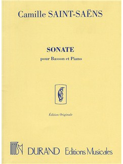 Camille Saint-Saens: Sonate Op.168 (Basson and Piano) Books | Bassoon, Piano Accompaniment