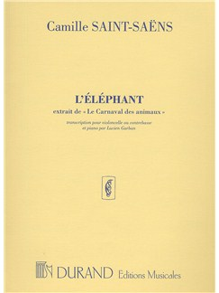 Camille Saint-Saens: L'Elephant (Cello and Piano) Books | Cello, Piano Accompaniment