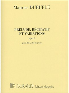 Maurice Durufle: Prelude, Recitatif Et Varations Op.3 Books | Chamber Group