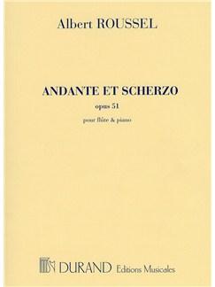 Albert Roussel: Andante Et Scherzo Op.51 (Flute and Piano) Books | Flute, Piano Accompaniment