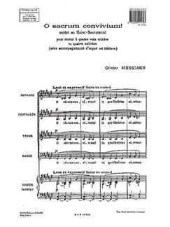 Olivier Messiaen: O Sacrum Convivium! Books | SATB