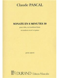 Claude Pascal: Sonate En 6 Minutes 30 Books | Tuba, Piano Accompaniment