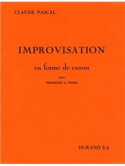 Claude Pascal: Improvisation En Forme De Canon (Trombone and Piano) Books | Trombone, Piano Accompaniment