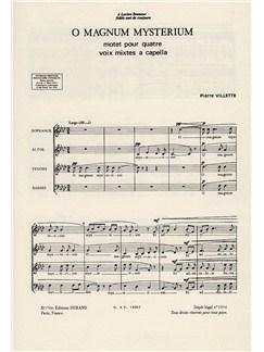 Pierre Villette: O Magnum Mysterium Books | SATB