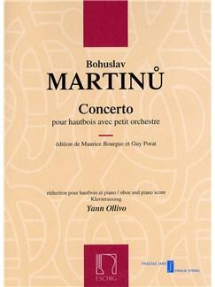 Bohuslav Martinu: Concerto Pour Hautbois Avec Petite Orchestre (Oboe and Piano) Books   Oboe, Piano Accompaniment