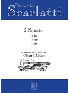 Domenico Scarlatti: 3 Sonates K.113 / K.380 / K.466 Books | Classical Guitar