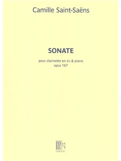 Camille Saint-Saens: Sonate Op.167 For Clarinet And Piano Books | Clarinet, Piano Accompaniment