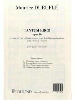 Maurice Duruflé: Tantum Ergo - Quatre Motets No.4 (SATB) Books | SATB