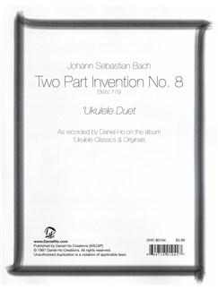 J.S. Bach: 2-Part Invention No.8 BWV 779 - Ukulele Duet Books | Ukulele (Duet)