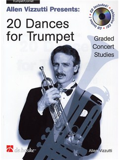 Allen Vizzutti: 20 Dances For Trumpet (Book/CD) CD y Libro | Trompeta