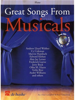 Great Songs From Musicals - Flute (Book and CD) Books and CDs | Flute