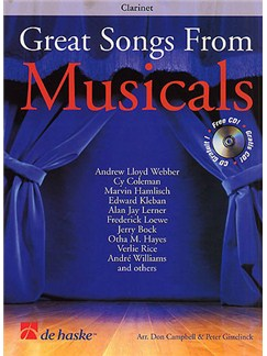Great Songs From Musicals - Clarinet Books and CDs | Clarinet