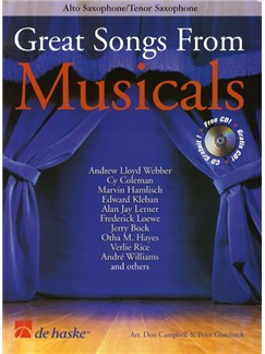 Great Songs From Musicals - Alto Saxophone/Tenor Saxophone (Book And CD) Books and CDs | Tenor Saxophone and Alto Saxophone