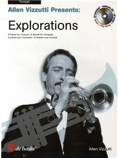 Allen Vizzutti: Explorations For Trumpet (Book And CD) Books and CDs | Trumpet