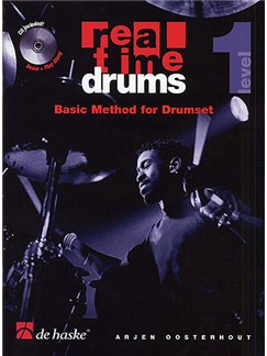 Real Time Drums: Basic Method For Drumset - Level 1 CD et Livre | Batterie