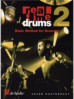 Real Time Drums: Basic Method For Drumset - Level Two Books and CDs | Drums