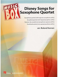 Disney Songs For Saxophone Quartet (AATB) Books   Saxophone (Quartet)