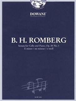 Bernhard Heinrich Romberg: Cello Sonata In E Minor Op.38 No.1 (Dowani 3 Tempi Play Along - Book/CD) Books and CDs   Cello, Piano Accompaniment