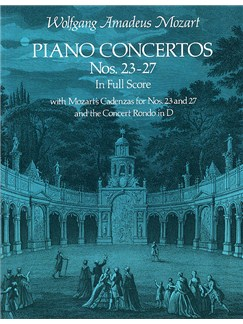 W.A. Mozart: Piano Concertos Nos. 23-27 (Full Score) Books   Piano, Orchestra
