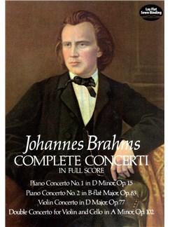 Johannes Brahms: Complete Concerti (Full Score) Books | Orchestra