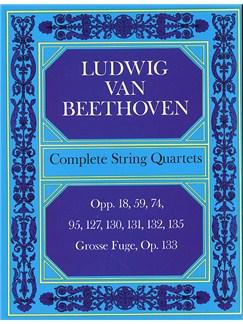 Beethoven: Complete String Quartets And Grosse Fugue (Score) Books | String Quartet