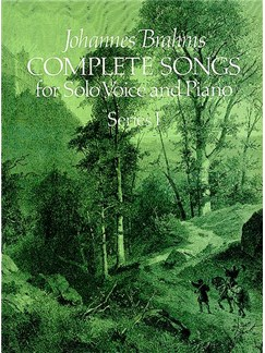 Johannes Brahms: Complete Songs For Solo Voice And Piano Series I Books | Voice, Piano
