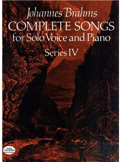 Brahms: Complete Songs For Solo Voice And Piano Series IV Books | Voice, Piano